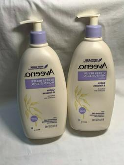 2 AVEENO STRESS RELIEF MOISTURIZING LOTION 18 OZ EACH  JL 79