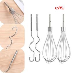 2x stainless steel hand mixer egg beater