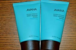 2X AHAVA~Deadsea Water Mineral Hand Cream Sea-Kissed ~ 1.3 o
