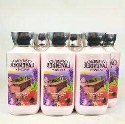6 BATH AND BODY WORKS FRENCH LAVENDER & HONEY BODY LOTION HA