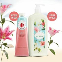 Nature Republic All Day Lily Body Lotion 500ml + Hand Cream