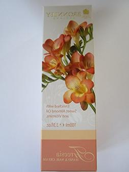 Bronnley Freesia 100g/3.3oz Hand & Nail Cream