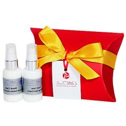 Christmas skincare gift set with organic enriched hand cream