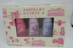 Crabtree & Evelyn Lavender Rosewater & Pear & pink Magnolia