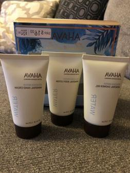 AHAVA DEADSEA WATER MINERAL LOVE TRIO HAND CREAM BODY LOTION