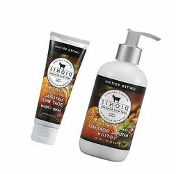 Dionis Goat Milk Body Lotion and Hand Cream Gift Set (Carame