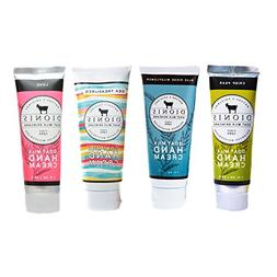 Dionis Goat Milk Hand Cream 4 Piece Travel Gift Set - Popula