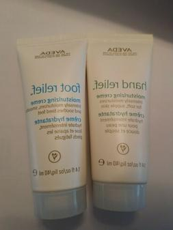 AVEDA HAND & FOOT RELIEF FRESH LOTION CREME CREAM 1.4 TRAVEL