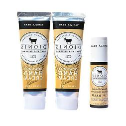 Dionis Hand Cream and Lip Balm 3 Piece Gift Set - Vanilla Be