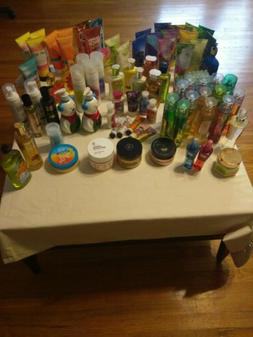 Huge Bath and Body Works 95 Lot Discont Scents Lotion/Cream/