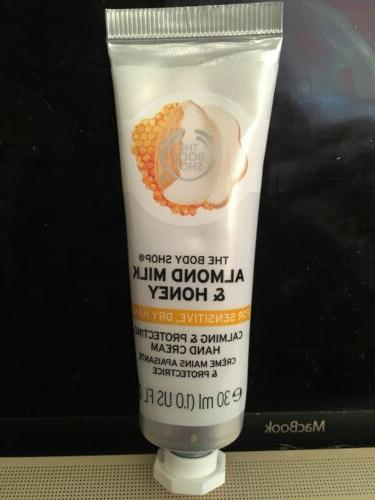 almond milk honey hand cream for sensitive