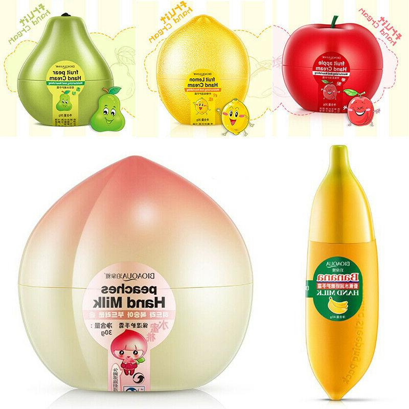 banana peach fruit hand milk cream lotion