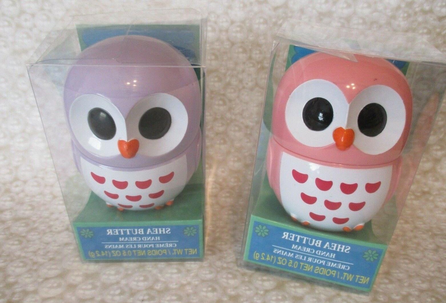 cute whimsical owl shea butter hand creams