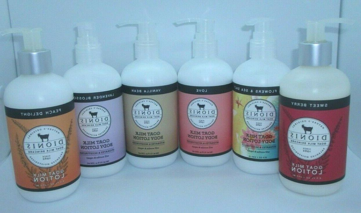 goat milk skincare lotion and hand cream