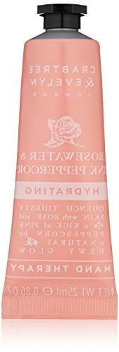 Crabtree & Evelyn Hydrating Hand Therapy, Rosewater & Pink P