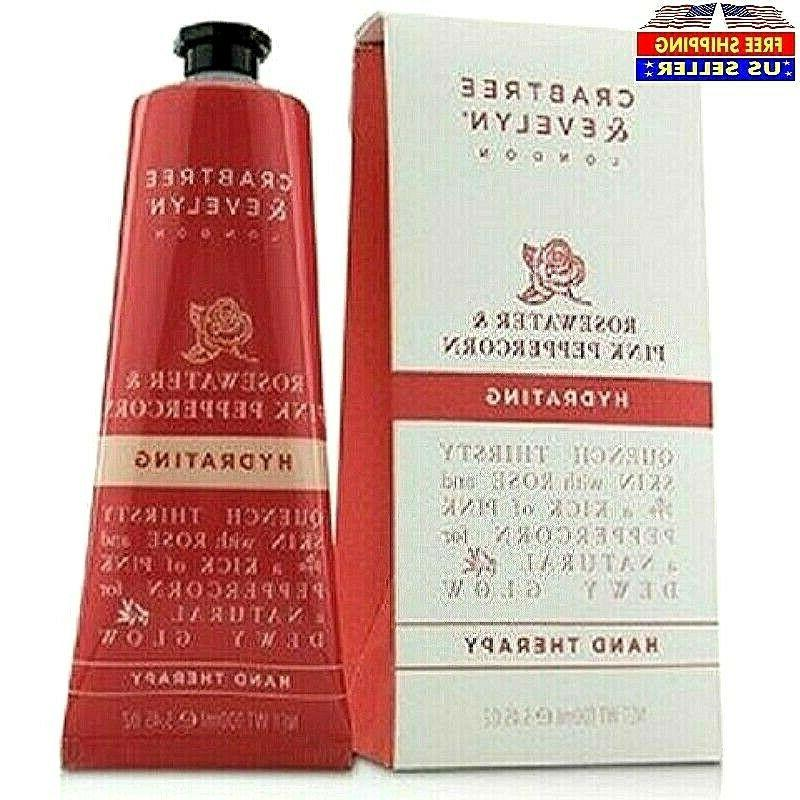 Crabtree & Evelyn Hydrating Hand Cream Therapy, Rosewater &