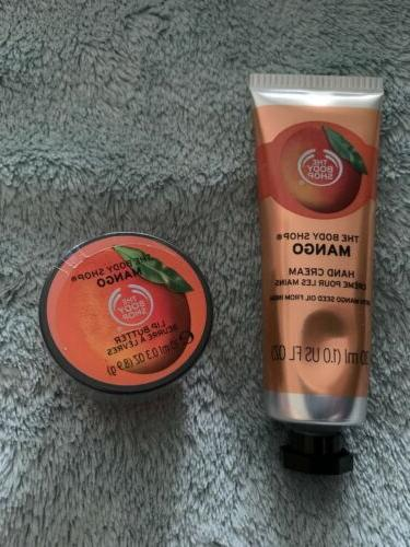 mango soft hand cream and lip butter