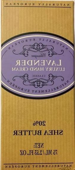 Naturally European LAVENDER Luxury Hand Cream Boxed 20% Shea
