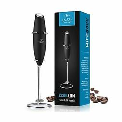 Zulay Milk Frother Handheld Battery Operated Foam Maker for