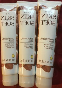 AVON SKIN SO SOFT COMFORTING SHEA HAND CREAM 3.4 FL OZ NEW L